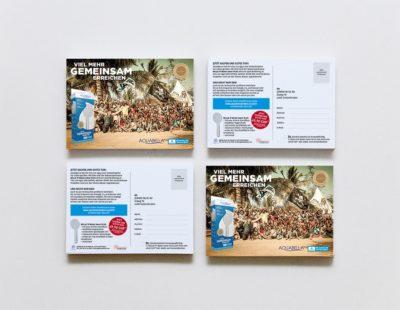 Postcards Mockup DINA 6 1 3