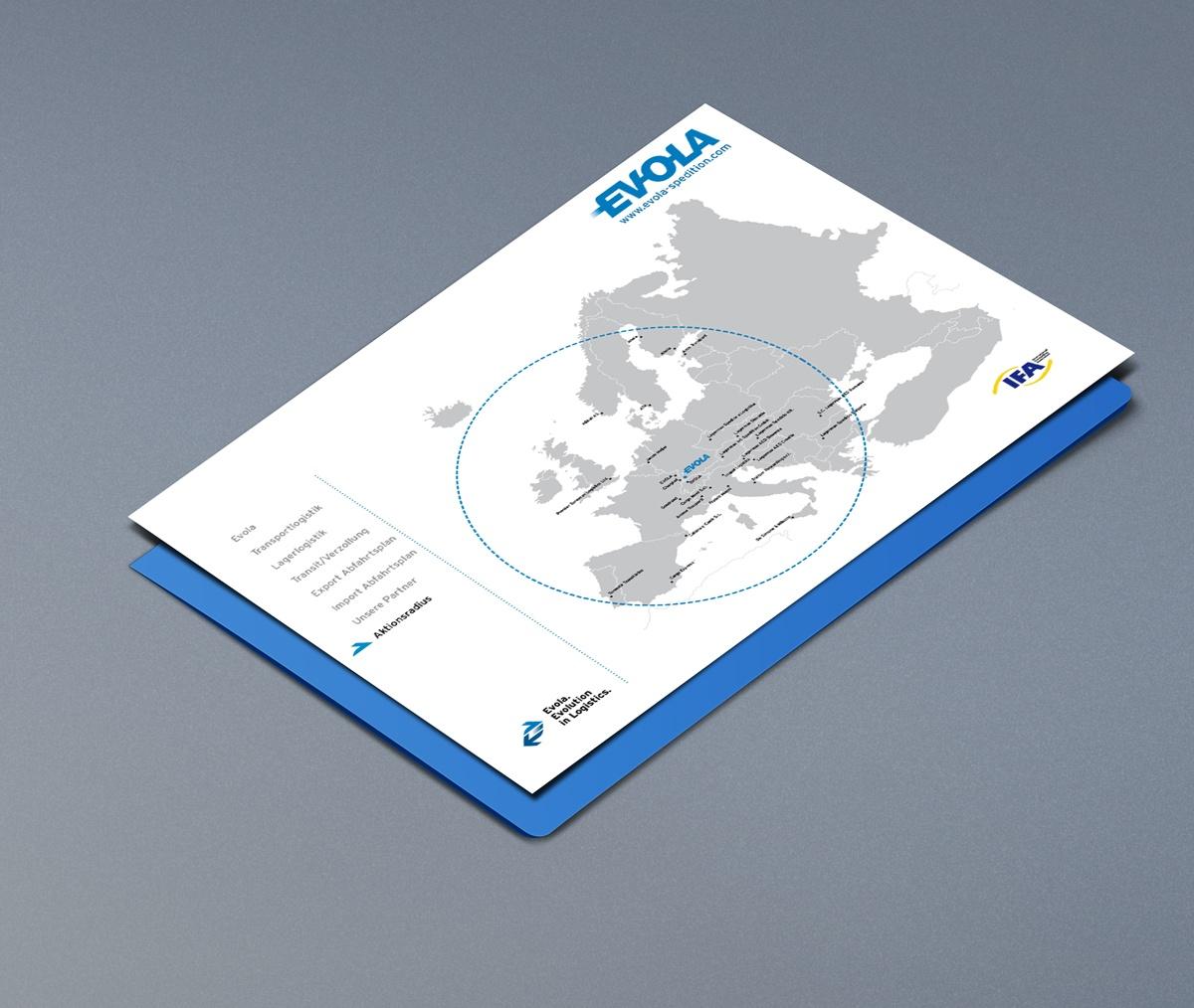 Grafikdesign Logistik Unternehmen