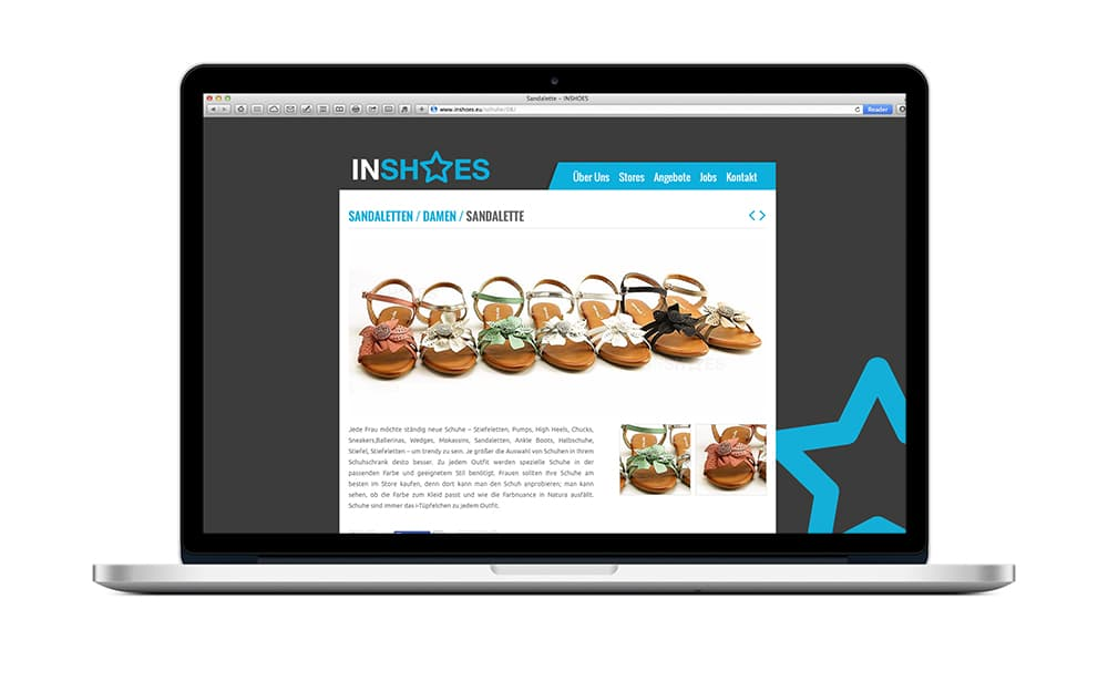 WordPress Website Schuhe