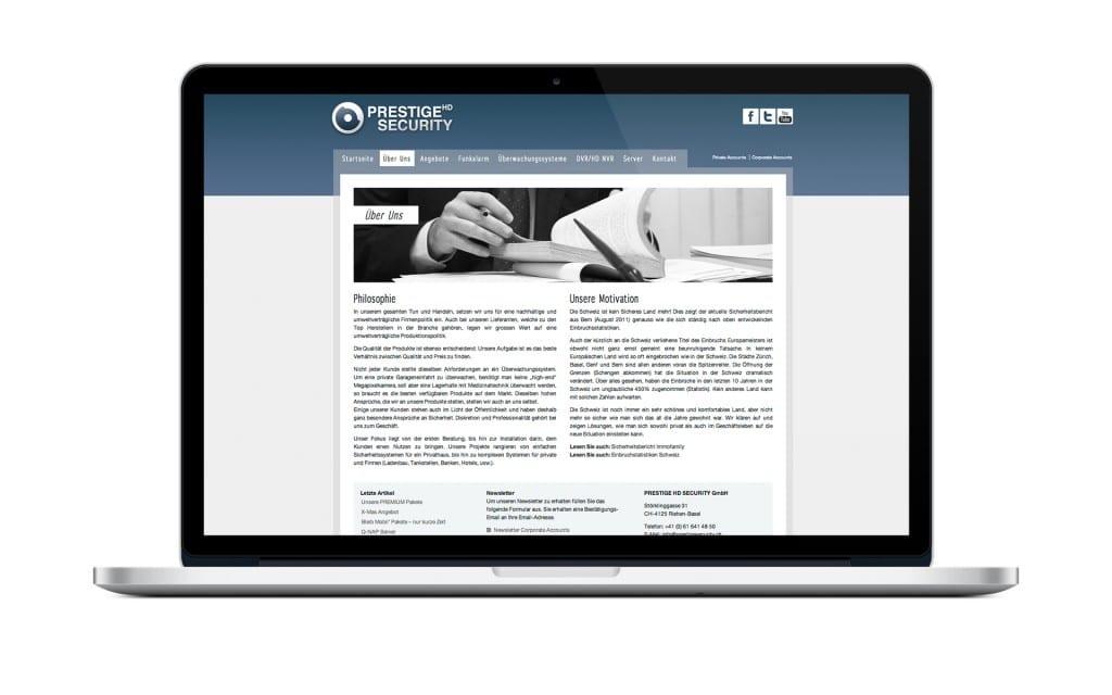 WordPress Beispiel Security Unternehmen
