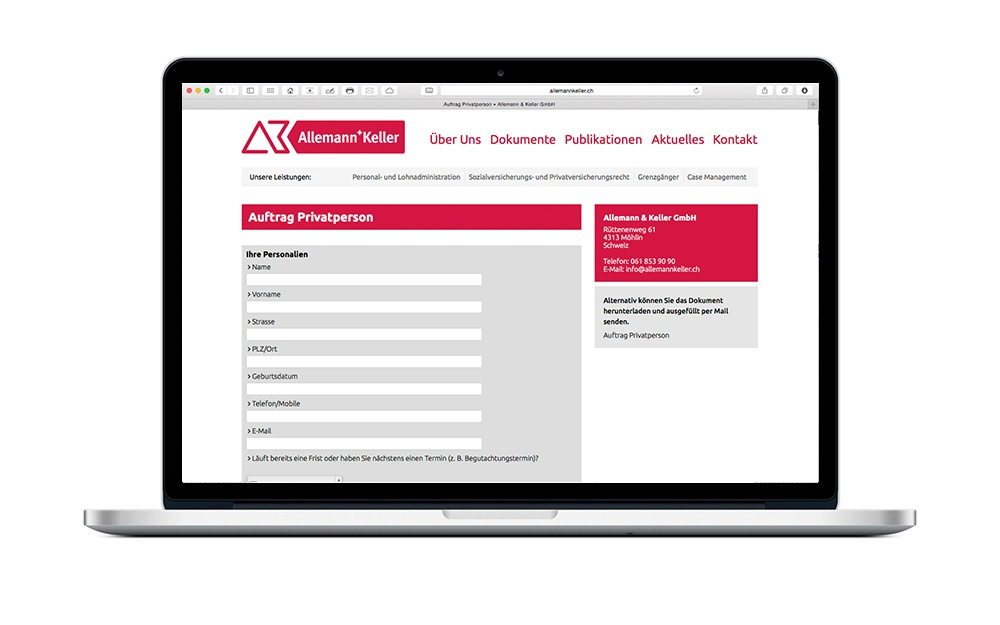Webdesign Human Resources Schweiz