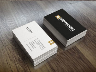 Coporate Design Visitenkarten Beispiel
